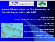 Accomplishments since the First Symposium on Invasive ... - CEDAF