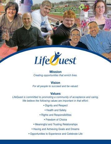 Mission Vision Values - LifeQuest