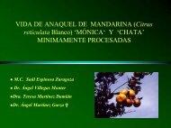 VIDA DE ANAQUEL DE MANDARINA (Citrus reticulata ... - CEDAF