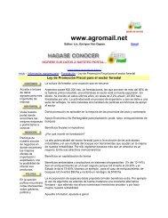 Argentina - Articulo Sobre Incentivos Forestales - CEDAF