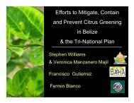 Efforts to Mitigate, Contain and Prevent Citrus Greening in ... - CEDAF