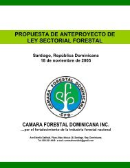 Propuesta Anteproyecto Ley Forestal CFD - CEDAF