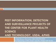 Detection and Surveillance Projects of the Center for Plant ... - CEDAF
