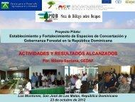 Proyecto Piloto: Establecimiento y Fortalecimiento de ... - CEDAF