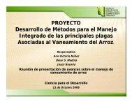 PROYECTO Desarrollo de Métodos para el Manejo ... - CEDAF
