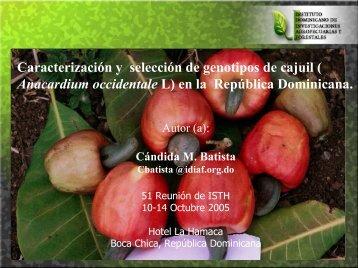 Caracterización y selección de genotipos de cajuil ... - CEDAF