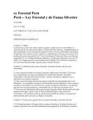 Ley Forestal Peru - CEDAF