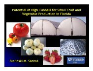 Potential of High Tunnels for Small Fruit and Vegetable ... - CEDAF