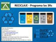 RECICLAJE - Programa las 3Rs - CEDAF