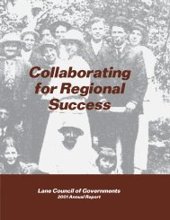 2001 LCOG Annual Report - Lane Council of Governments