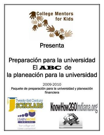 Presenta Preparación para la universidad - College Mentors for Kids