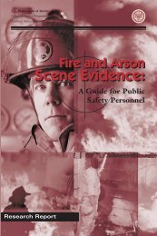 Fire and Arson Scene Evidence - Imprimus Forensic Services