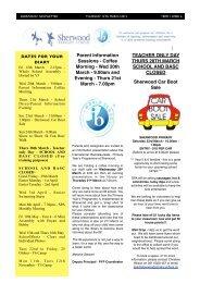 14 March 2013 Added - Sherwood School