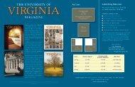 MAGAZINE THE UNIVERSITY OF - Virginia Online Magazine Site