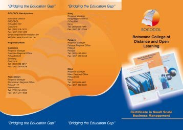 Click on the link to download SSBM Brochure - BOCODOL