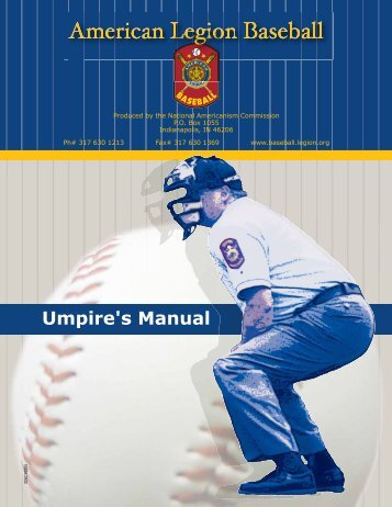 Umpire's Manual - American Legion Baseball