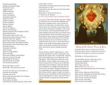 Litany of the Sacred Heart of Jesus - Wilkie RC Saint James Parish ...