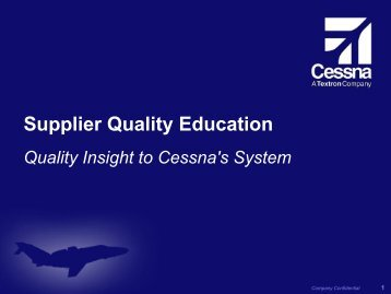 Supplier Quality Education