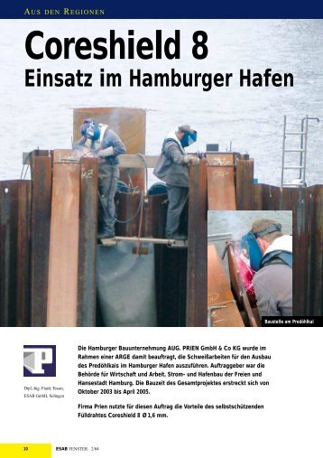 Anwendungsbeispiel: Kaianlagenbau - fuelldraht.de