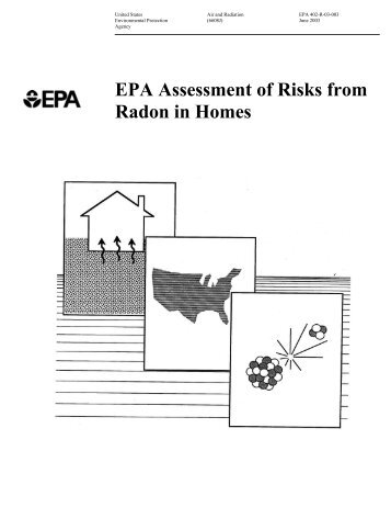 EPA Assessment of Risks From Radon in a Home