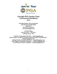 Georgia PGA Junior Tour Tournament Handbook 2011 - PGA Georgia