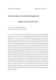 Haushaltsrede 2012 Stadtkämmerer Weeke - Solingen spart