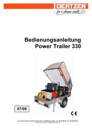 Bedienungsanleitung Power Trailer 330 - von Oertzen GmbH