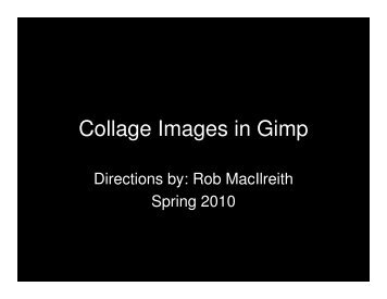 Collage Images in Gimp