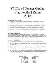 Recreational Flag Football Rules - Youth Sports YMCA