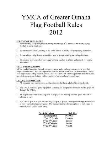Midget football rules