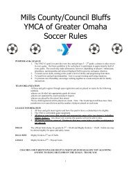 Mills County/Council Bluffs YMCA of Greater Omaha Soccer Rules