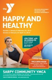 HAPPY AND HEALTHY - Sarpy YMCA