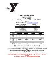 YMCA of Greater Omaha Flag Football 2012 - Youth Sports YMCA