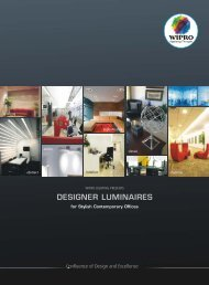 DESIGNER OFFICES final - Wipro Lighting
