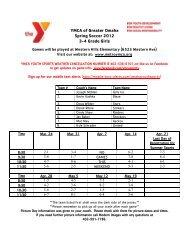 YMCA of Greater Omaha Spring Soccer 2012 3-4 Grade Girls
