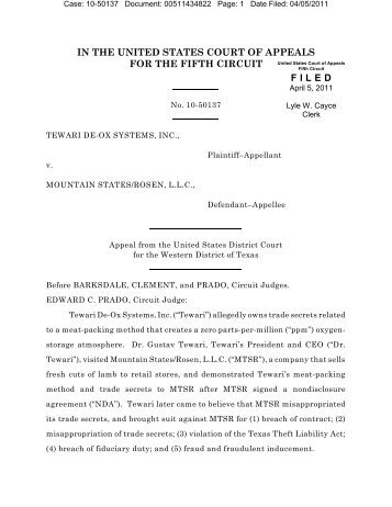 10-50137 - U.S. Court of Appeals for the Fifth Circuit