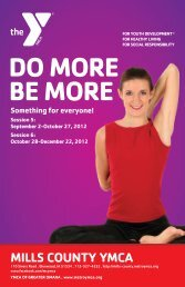 DO MORE BE MORE - Mills County YMCA