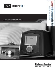 F&P ICON+ CPAP Series - User Manual (PDF) - cpapXchange