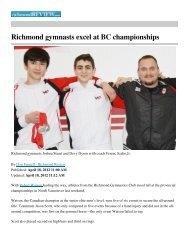 Richmond gymnasts excel at BC championships
