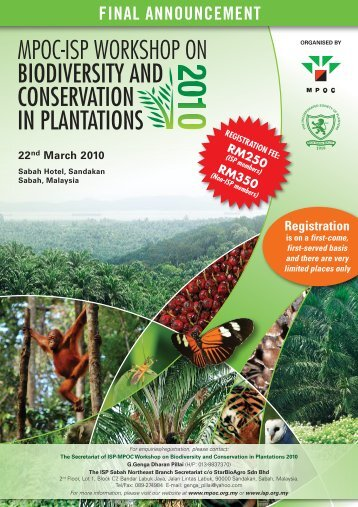 mpoc-isp workshop on biodiversity and conservation in plantations