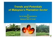 Trends & Potentials of Malaysia's Plantation Sector - MPOC