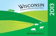 Wisconsin's Dairy Industry - Wisconsin Milk Marketing Board (WMMB)