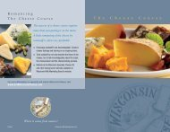 The Cheese Course - the Wisconsin Milk Marketing Board