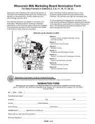 2012 WMMB Director Nomination Form - Wisconsin Milk Marketing ...