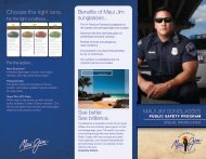 Choose the right lens. - American Association of State Troopers