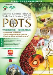 Malaysia-Romania Palm Oil - MPOC