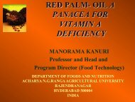RED PALM- OIL A PANACEA FOR VITAMIN A DEFICIENCY - MPOC