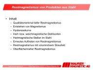 Restmagnetismus von Produkten aus Stahl - Maurer Magnetic AG