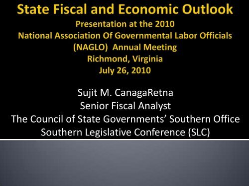 State Fiscal and Economic Outlook (presentation) - Southern ...