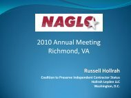 Russell Hollrah, Coalition to Preserve Independent - NAGLO